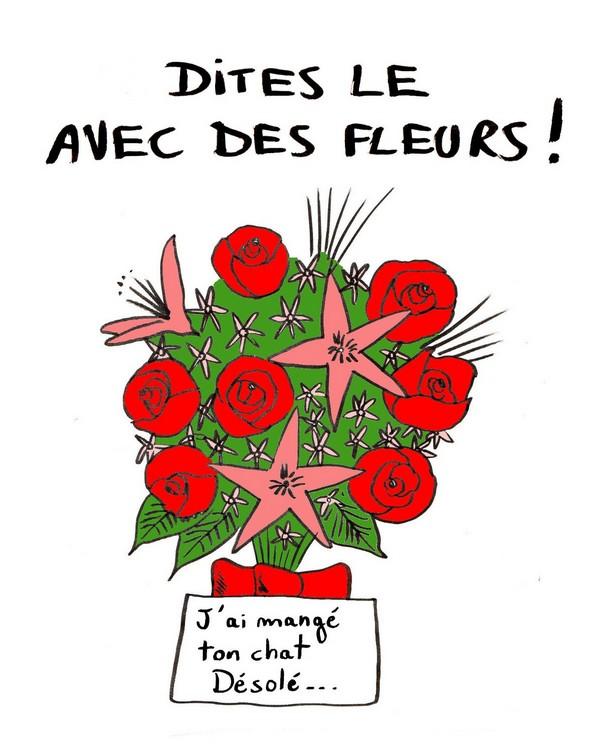 Dites le avec des fleurs!